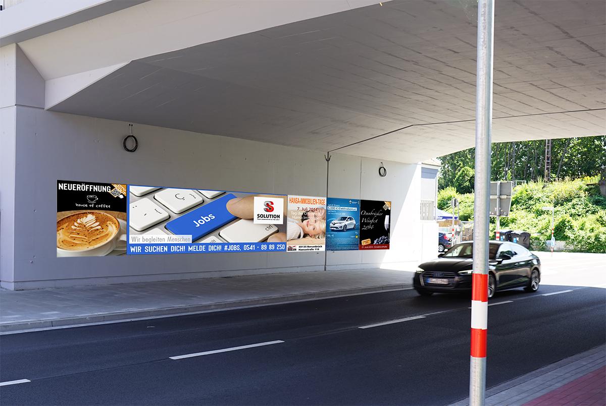 Plakatierung Flächenwerbung